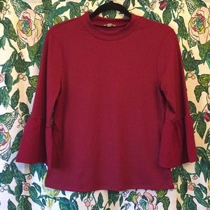 Lily White Bell Sleeve Shirt